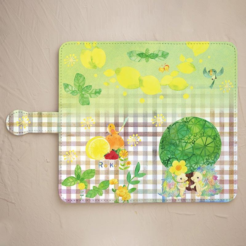 レモンとハリネズミのスマホケース