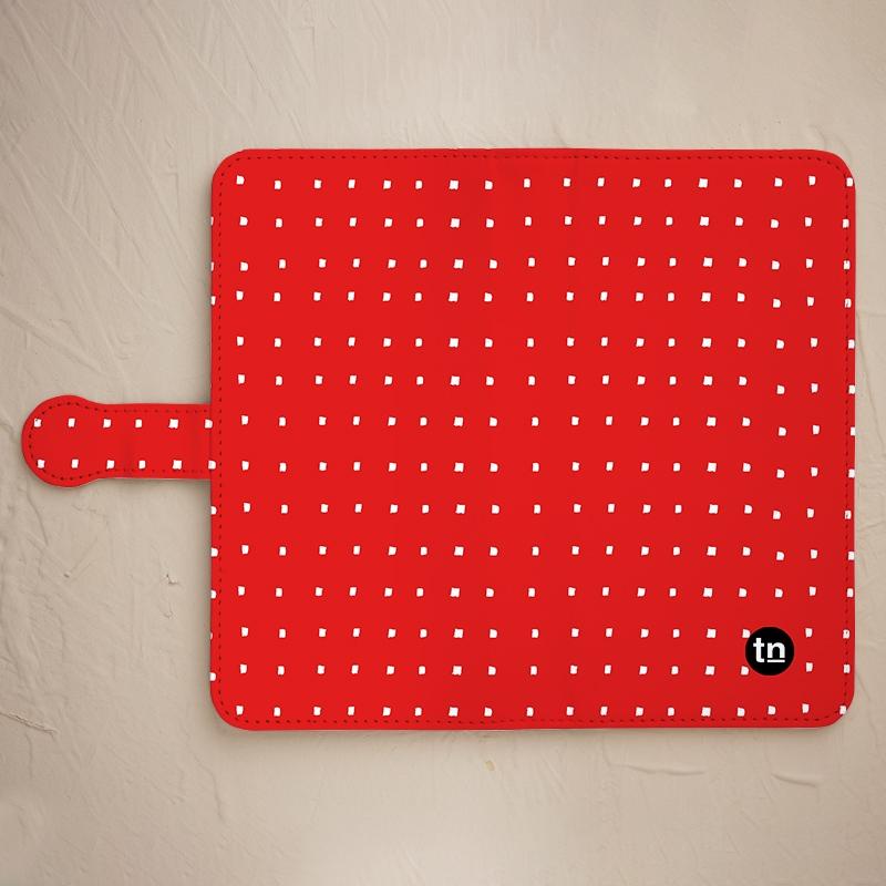 うつ防止に赤色スマホケース