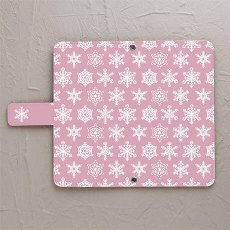 【雪結晶ピンク】スマホケースを見る
