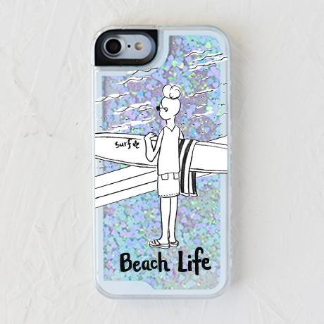 【white surfgirl サーフガール】スマホケースを見る