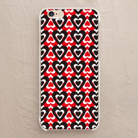 【ハート赤と黒】スマホケースを見る