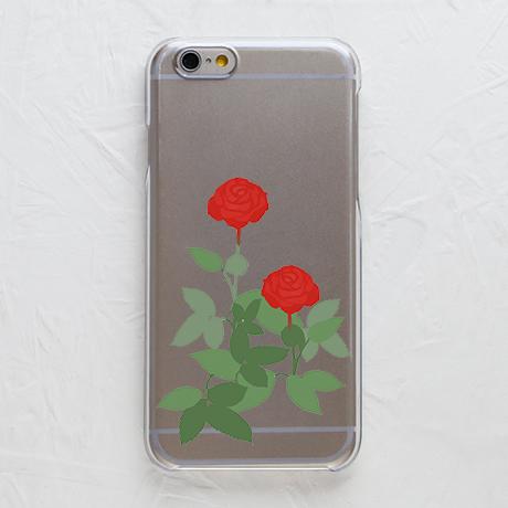 【赤い薔薇(クリアケース)】スマホケースを見る