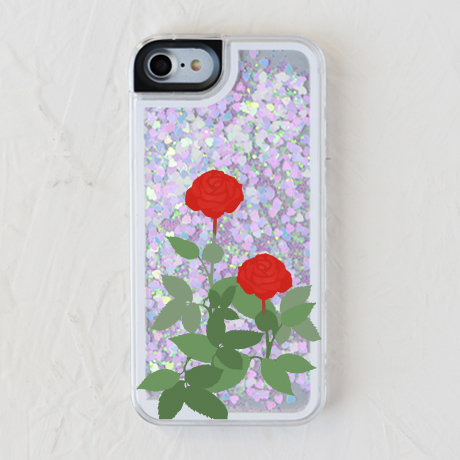 【赤い薔薇(グリッターケース )】スマホケースを見る