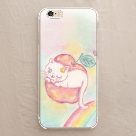 【りんごに入った猫】スマホケースを見る