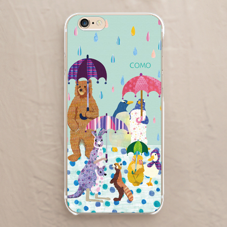 【雨と動物たち】スマホケースを見る