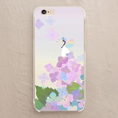 スマホケース【【カバー】紫陽花の妖精 白のドレス】をチェックする