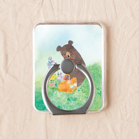 【りんごとクマ】スマホリングをチェックする