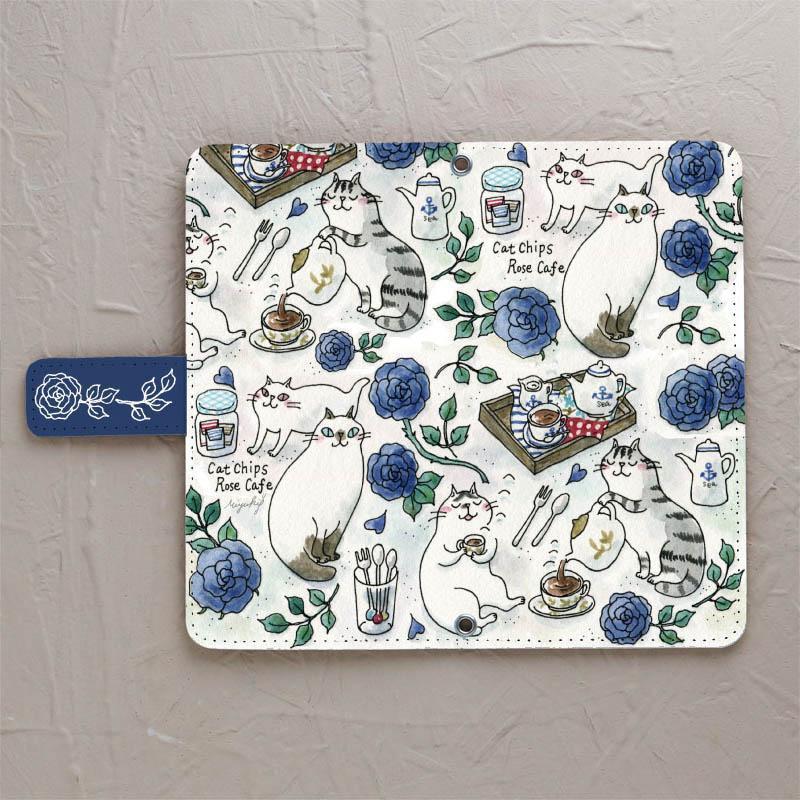 【Blue Rose Cafe】の手帳型スマホケースをチェックする