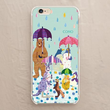 【雨と動物達】のハードケース:ソフトケースをチェックする