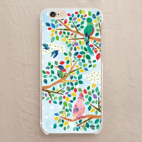 【木と鳥】のハードケース:ソフトケースをチェックする