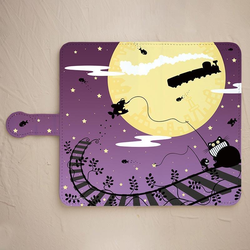 【銀河鉄道紫】の手帳型スマホケースをチェックする