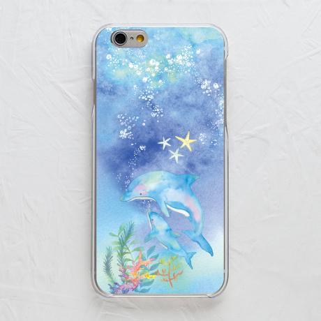 スマホカバー【青い海とイルカ】をチェックする