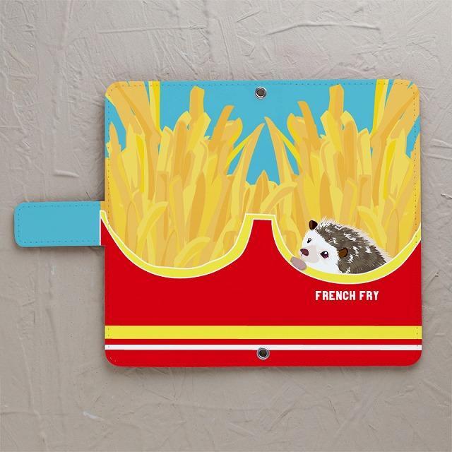 【ハリネズミとフライドポテト】の手帳型スマホケースをチェックする