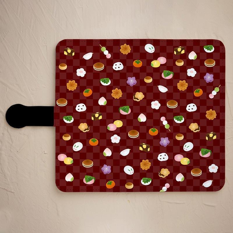【和菓子】の手帳型スマホケースをチェックする