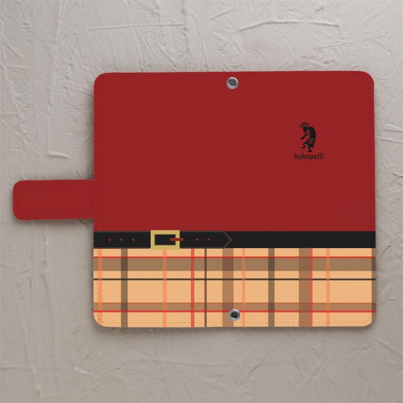 【ココペリ レッド】の手帳型スマホカバーをチェックする