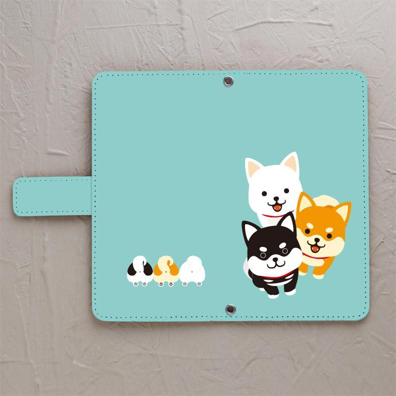 【柴犬3色】の手帳型スマホケースをチェックする