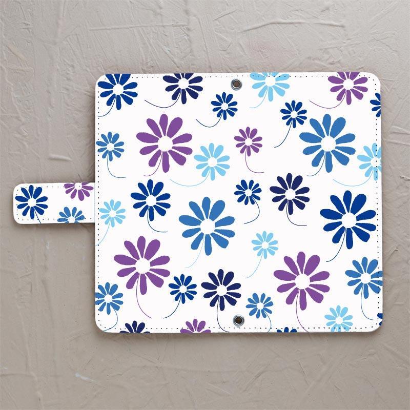 【花舞う_Blue】の手帳型スマホカバーをチェックする